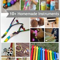 (Music Unit: Homemade Instruments) Over 10 Homemade Musical Instruments for Kids Preschool Music, Music Activities, Activities For Kids, Projects For Kids, Diy For Kids, Crafts For Kids, Diy Crafts, Toddler Crafts, Instrument Craft