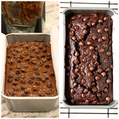 This Flourless Chocolate Banana Bread is so fudgy and perfectly tender that you'd never believe it is made without any flour, oil, butter or granulated sugar in it. Flourless Banana Bread Recipe, Flourless Cake, Chocolate Chip Banana Bread, Flourless Chocolate, Banana Bread Recipes, Dessert Cake Recipes, Delicious Desserts, Baking, Yummy Yummy