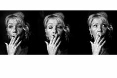 Black and White portrait of a woman smoking. This image formed part of an exhibition.
