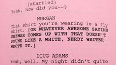 Ha! At least the writers know they can't write for Shemar Moore...