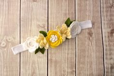 Felt Flower Crown Headband Flower Garland by Lillianas on Etsy