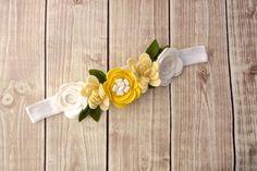 Felt Flower Crown Headband Flower Garland by Lillianas on Etsy