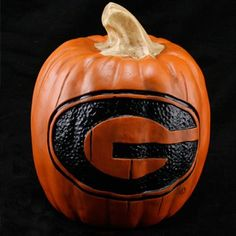 Georgia Bulldogs 7'' Resin Decorative Pumpkin. Must buy one.
