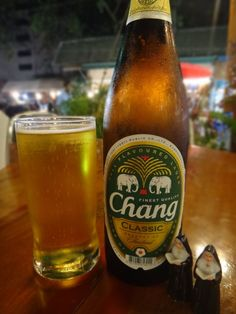 Chang - beer of choice in Thailand! Order the big one ;)