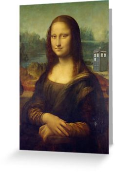 Captured on canvas for all of eternity – the day when Mona Lisa met the Time Lord. Share your love of all things WHOVIAN when you send a little WHO in the post! $2.00