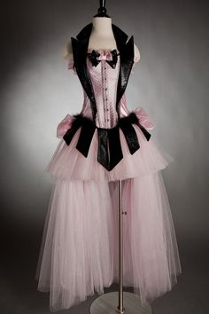 Pink and black #corset