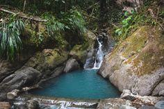 Guadeloupe l Itinéraire de 3 semaines, bonnes adresses et coups de coeur - Ti' Piment Coups, Waterfall, River, Outdoor, Spice, Beautiful Images, Plunge Pool, Travel, Blue