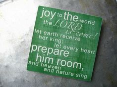 Joy to the World, 3x3, Magnet. $5.00, via Etsy.