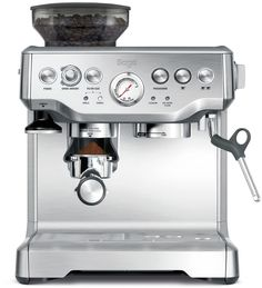 Shop for espresso machine at Bed Bath & Beyond. Buy top selling products like Nespresso® Vertuo Next Premium Coffee & Espresso Maker by Breville w/ Aeroccino Milk Frother and Breville® The Barista Express™ Espresso Machine. Best Espresso, Espresso Maker, Espresso Coffee, Espresso Kitchen, Coffee Maker With Grinder, Best Coffee Maker, Barista, Heston Blumenthal, Cappuccino Machine