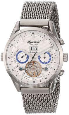 Ingersoll Men's IN1310SLMB Brandenburger Gate Analog Display Automatic Self Wind Silver Watch - Port City Jewelers