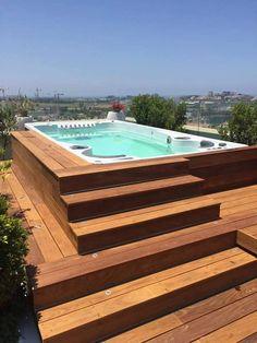Beautiful swimspa installation don't you think?!