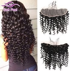 (52.47$)  Buy here  - Brazilian Lace Frontal Closure Deep Wave Full Lace Frontal Closure Free Part Brazilian Curly Lace Human Hair Closure Ear To Ear