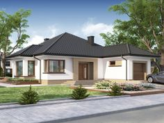 Look at all of this for another thing completely. Bungalow Homes Renovation Modern Bungalow Exterior, Modern Bungalow House, Bungalow Homes, Cottage Style Homes, Modern House Floor Plans, My House Plans, Single Storey House Plans, Village House Design, Beautiful House Plans