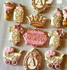 Princess cookies shower baby