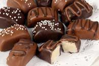 Chocolate Covered Marzipan Loaves--christmas candy