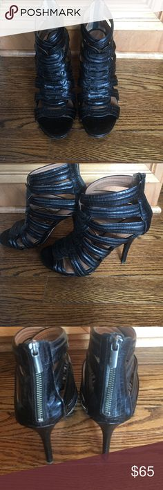 Booties, ankle, heels. Open toe ankle booties with heels. DKNY Shoes Ankle Boots & Booties