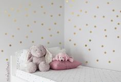 Silver or Gold Polka dots Nursery Wall Decal by NicoWallStickers