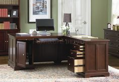 Traditional L-shaped desk
