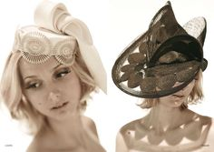 Lookbooks of the brand Céline Robert Chapeaux, hand mande women ceremony hats, bibi, capeline, turban, cloche, cap...