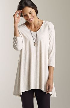 knit tops & tees > Pure Jill light shirred-back tunic at J.Jill