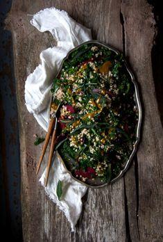 Buckwheat Salad with Sweet Turmeric Dressing + Fried Sage