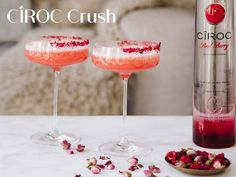 Such a pretty cocktail for Valentine's Day and any other day you want to feel in the pink. Cîroc Red Berry Vodka is the perfect choice for romance. Best Vodka Cocktails, The Best Vodka, Cocktails For Parties, Bourbon Cocktails, Easy Cocktails, Holiday Cocktails, Cocktail Recipes For A Crowd, Cocktail Party Food, Dried Raspberries