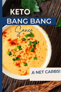 Sauces make everything better, and this Keto Bang Bang Sauce is pretty spectacular. It is just the right match for shrimp, chicken, and even cauliflower! With almost no prep time, you get a delicious, no-fail dipping sauce that is guaranteed to leave your taste buds doing a happy dance. Keto Sauces, Low Carb Sauces, Sugar Free Recipes, Low Carb Recipes, Healthy Recipes, Gluten Free Dinner, Keto Dinner, Low Carb Appetizers, Appetizer Recipes