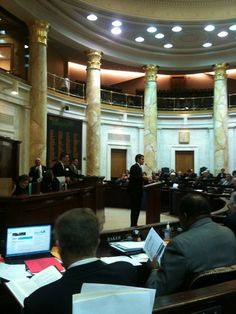 Here I am in 2011, presenting my first bill as a legislator. HB1280, which later became Act 279, amended provisions of the Arkansas Surface Coal Mining and Reclamation Act of 1979 to ensure that our state is ready and able to safely reclaim abandoned and unsafe mining lands. The bill passed out of the House that day by a vote of 82-1.