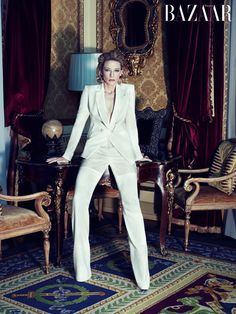 Cate Blanchett. I am not tall enough to get away with this suit, methinks, but it is fabulous.