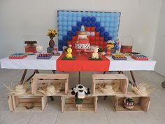 Kikits Atelie  de Festas: Festa Fazendinha Theo Toy Chest, Storage Chest, Toys, Furniture, Home Decor, Parties, Activity Toys, Toy, Toy Boxes