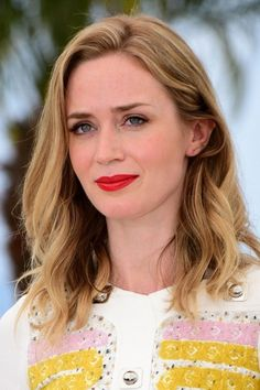 Emily Blunt's hairstyle at the  'Sicario' Photocall - The 68th Annual Cannes Film Festival