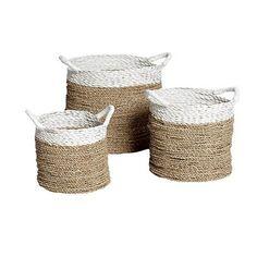 Set cestas asas blancas
