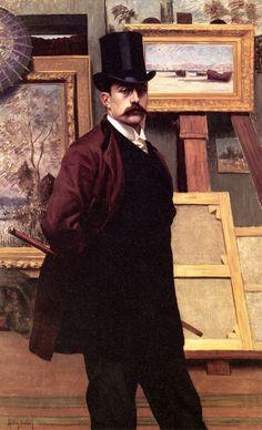 lemon2jul:19thcenturyboyfriend:  Self-Portrait in the Studio (c.1900), Henry Bouvet  Boutique du Toril