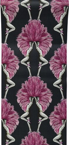 Showgirls Wallpaper Pink | Graduate Collection