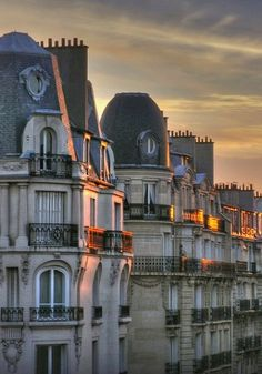 Sunset over Paris rooftop, France | by kmsf on deviantART