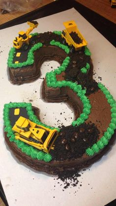 Post with 5140 views. Construction Site Cake (with progression pictures) I had a ton of fun with this one! Kids Construction Cake, Construction Birthday Parties, Construction Business, Construction Design, Bulldozer Cake, 5th Birthday Cake, Number Birthday Cakes, Tractor Birthday, Third Birthday