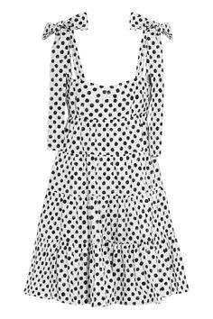Dolce & Gabbana   Polka-dot cotton-poplin mini dress