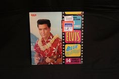 The King-Elvis Presley- Blue Hawaii- Vinyl LP Record- 1965- with Original Shrink and Hype Stickers/Labels- Orange Label by CarolynsEclectics on Etsy