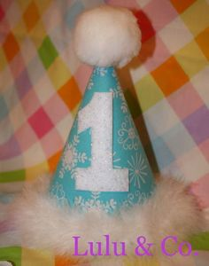 Party hat for a Winter ONEderland birthday - definitely ordering this!