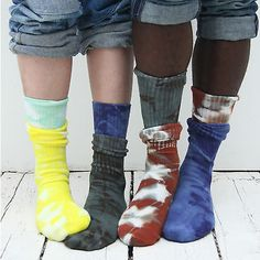 Hand dyed socks