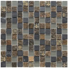 Somertile Granstone Fauna 1-inch Rosa Stone and Glass Mosaic Tiles (Pack of 10) | Overstock.com