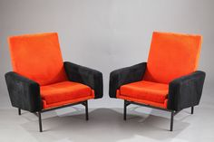"PAIR OF ""642"" ARMCHAIRS BY A.R.P. FOR STEINER 1950"