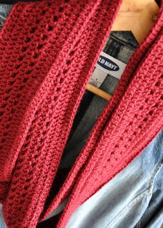 Burgundy Infinity Scarf Crochet Cowl Scarf Dark by DesisEclectics