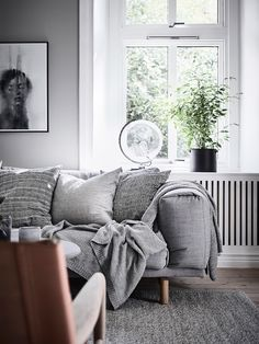 my scandinavian home: Lovely greens and blues in a Swedish space