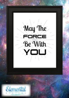 INSTANT DOWNLOAD Printable May the Force be by ElementalDigital