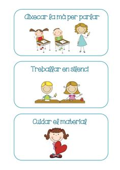 Targetes normes classe by Lila via slideshare Classroom Organisation, Classroom Rules, Classroom Decor, Classroom Management, Norman, Class Decoration, School Projects, Kindergarten, College
