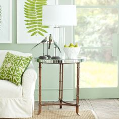 Wisteria - Furniture - Side Tables & Pedestals -  Venetian Bamboo Leg Table - $449.00