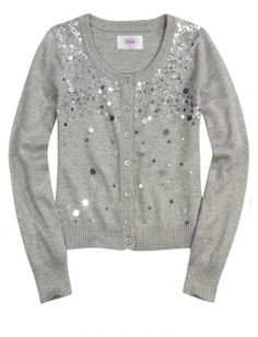 JUSTICE Black / Electric Blue ? Silver Sequins Sweater Girl's ...