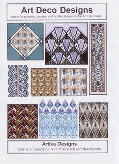 What Is Art Deco | art deco charted designs for cross stitch and needlepoint contains