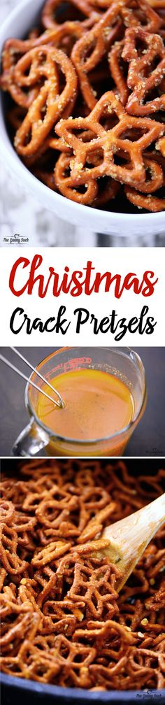 These Christmas Crack Pretzels were gobbled up by everyone we shared with. These Christmas Crack Pretzels were gobbled up by everyone we shared with. The crunchy, salty, buttery combination of this ranch pretzels recipe is fabulous! Ranch Pretzels, Seasoned Pretzels, Spicy Pretzels, Christmas Crack, Christmas Cooking, Christmas Pretzels, Christmas Candy, Christmas Goodies, Christmas Jingles